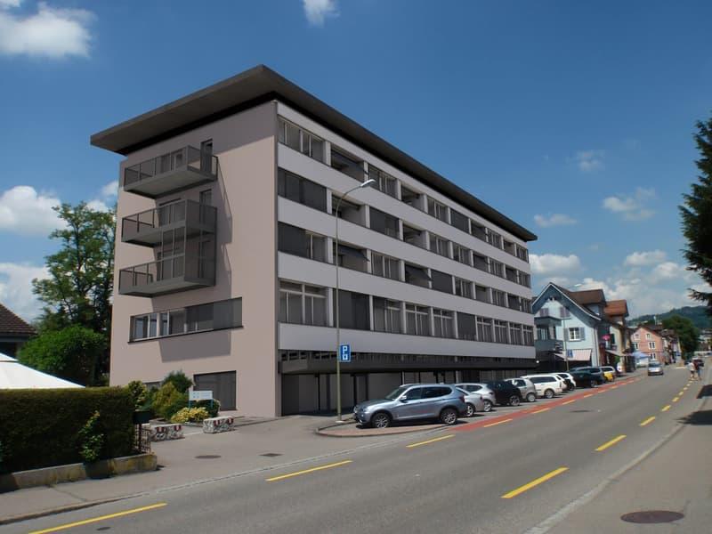 Gebäude von der Bahnhofstrasse her gesehen