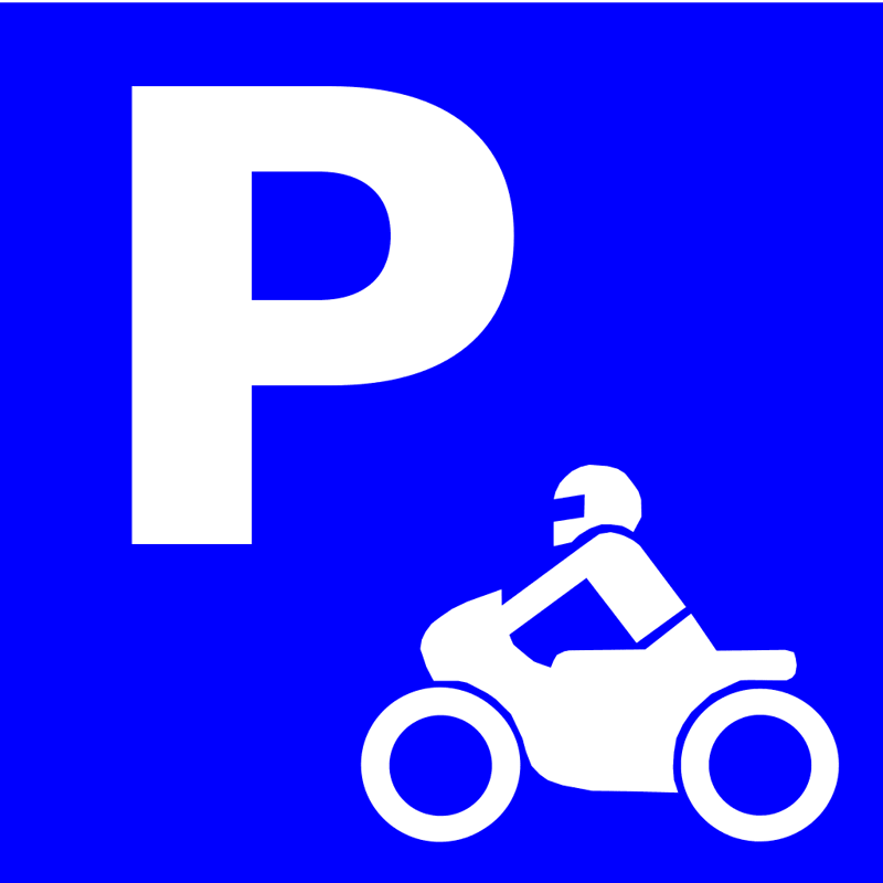 Motorrad Aussenparkplatz