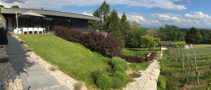 BÔLE-Prestigieux Attique avec terrasse de 80m2 au calme-Vue lac et Montagnes