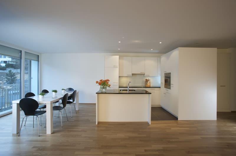 Helle und grosse Wohnung in schönem Familienquartier
