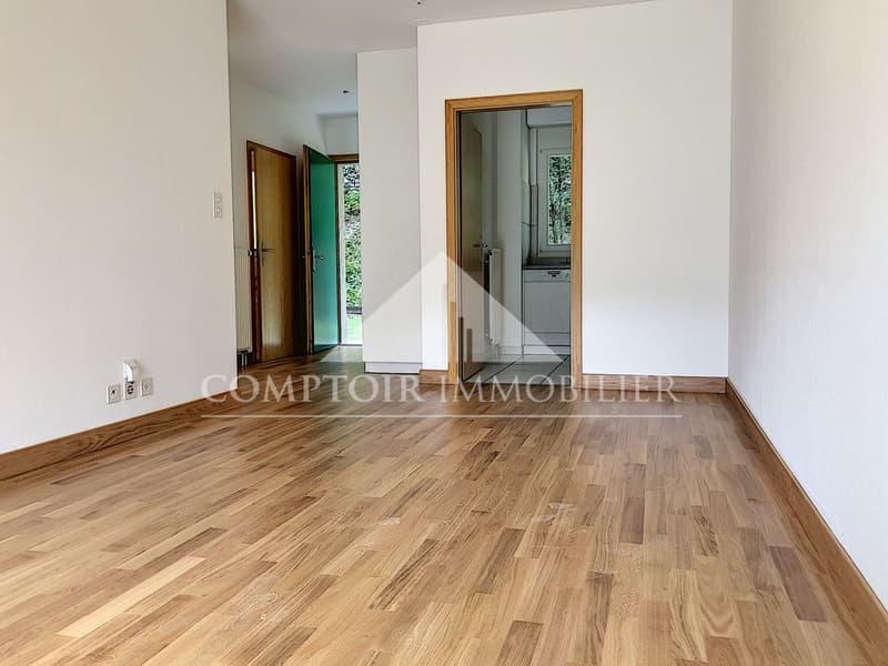 1 MOIS DE LOYER OFFERT - Spacieux appartement partiellement rénové de 2.5 pièces avec pelouse privative. (3)