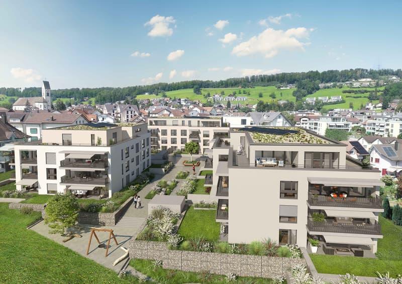 Sonnig und ruhig gelegene Wohnung mit 31 m2 grossem Balkon (2)