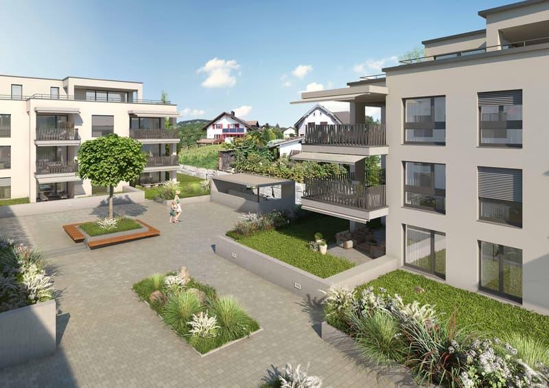 Sonnig und ruhig gelegene Wohnung mit 31 m2 grossem Balkon (1)