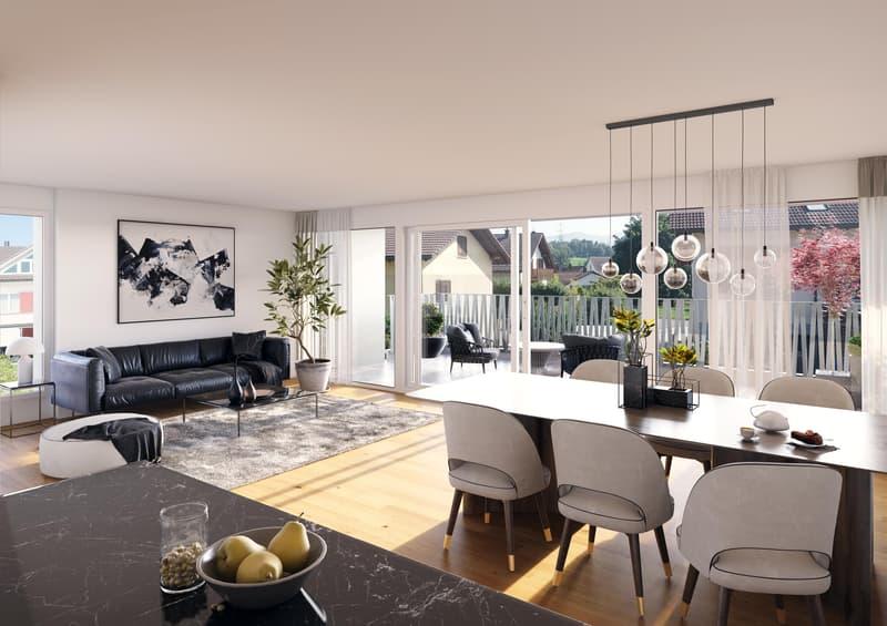 Sonnig und ruhig gelegene Wohnung mit 31 m2 grossem Balkon (4)