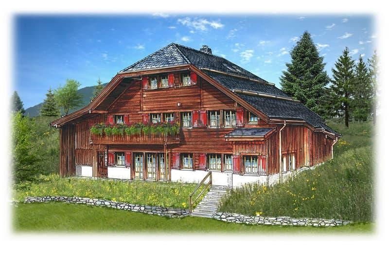 Chalet sur plans - Rougemont Situation idyllique