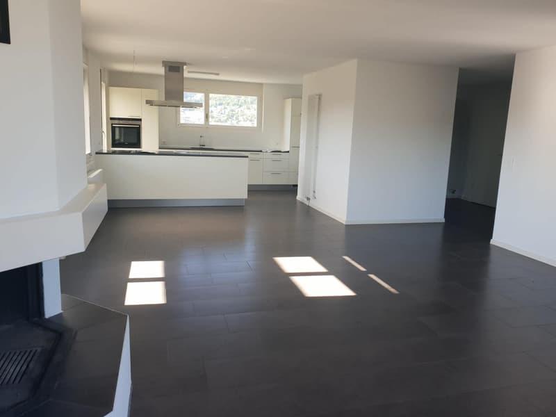 Grosszügige Attikawohnung mit Rundum-Terrasse! / Appartement attique généreux avec terrasse tout autour!