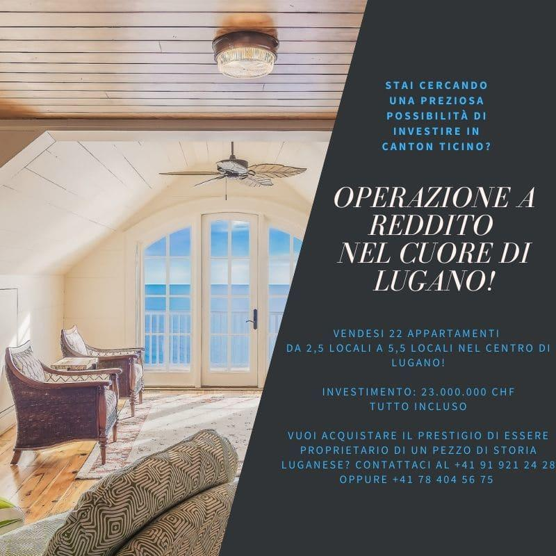 Operazione a Reddito nel cuore di Lugano