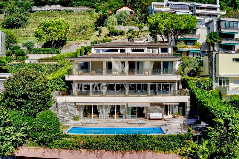 Elegante Villa in Ruvigliana mit Pool & Sicht auf den Luganersee