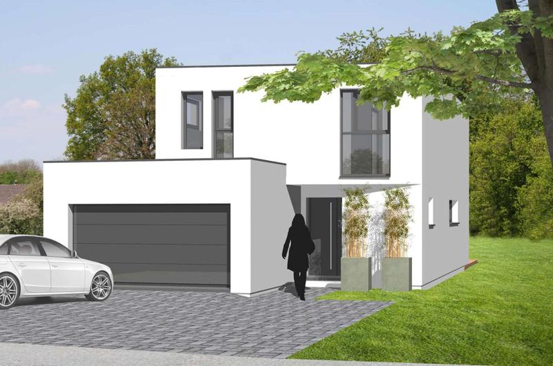 Modern Haus flatroof 104m² / Land 540m² (1)