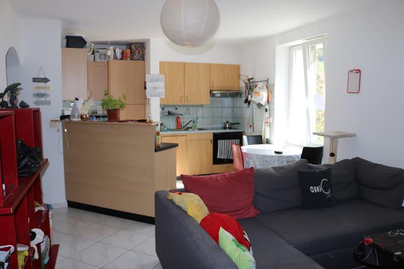 CORBIERES : Appartement 3.5 pièces spacieux au prix de CHF 1'290.- CHARGES COMPRISES