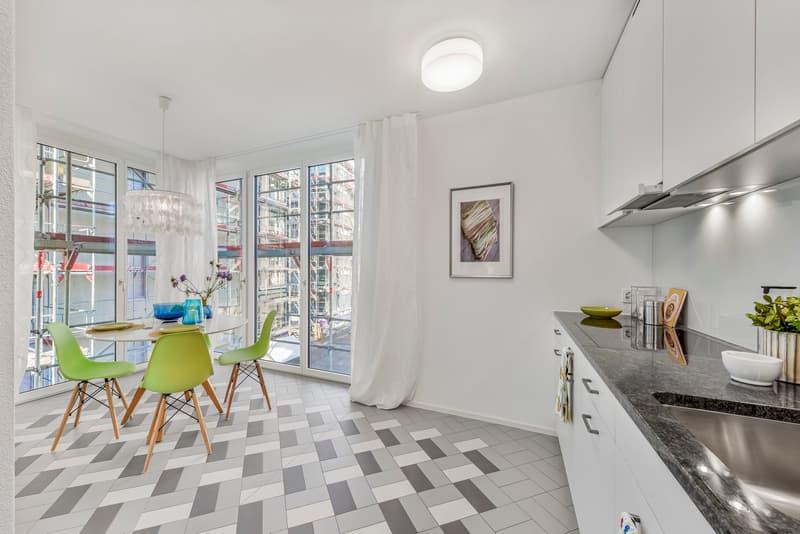 Küche und Essbereich Musterwohnung (Typ 13)