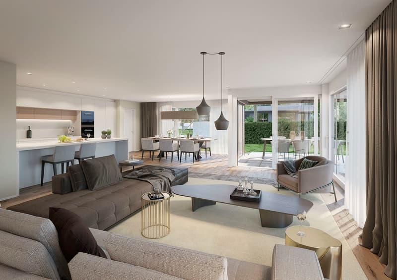 Wenn Architektur kein Zufall ist - Ein 5.5 Zimmer Wohntraum mit Gartenauf 219 m2