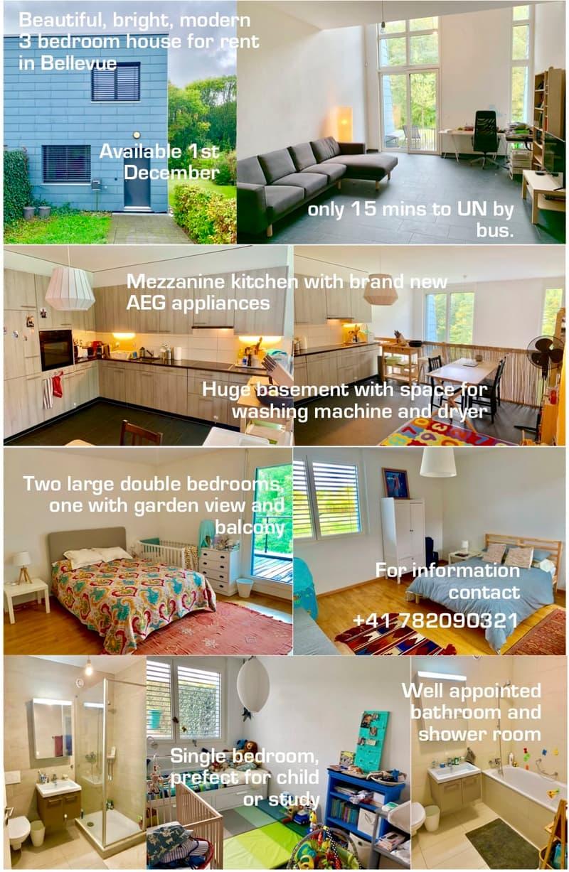 BRIGHT, SPACIOUS, MODERN 3-BEDROOM HOUSE WITH HUGE GARDEN IN BELLEVUE.