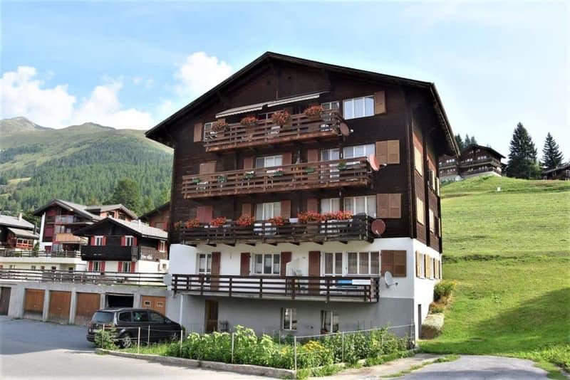 Platzbietende günstige Familienwohnung im sonnigen Bellwald im Goms