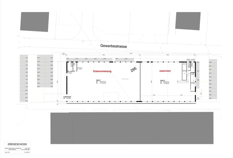 Neubauprojekt Herbst 2020 Produktions- und Lagerhalle