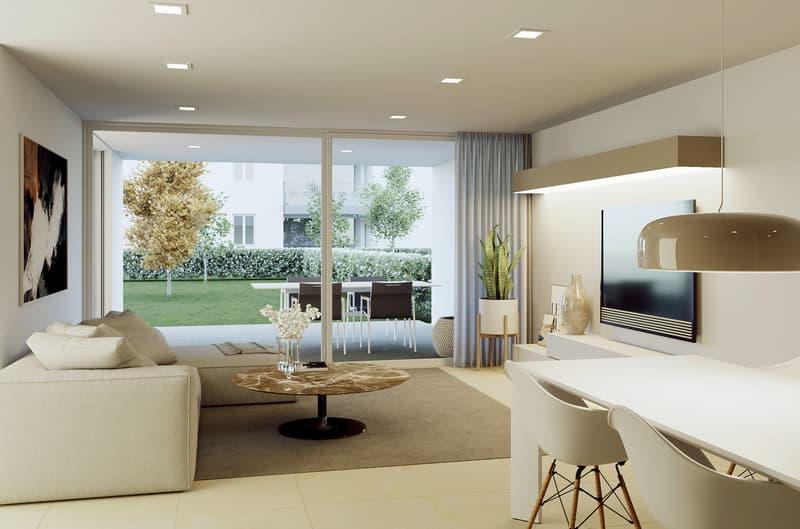 Nuovo appartamento 3 locali con giardino
