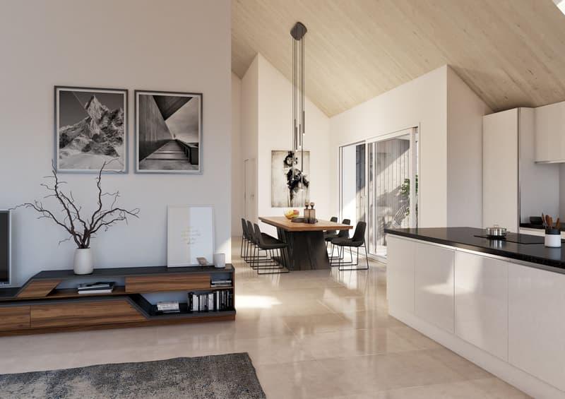 Erstbezug: Moderne 3.5-Zi-Dachwohnung mit Terrasse und Disponibelraum
