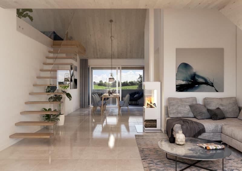 Erstbezug: Moderne 4.5-Zi-Dachwohnung mit Terrasse und Disponibelraum