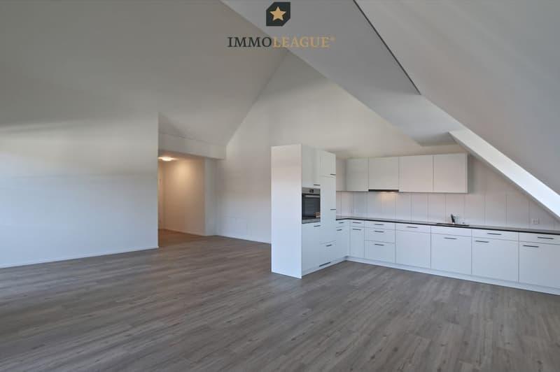 Grandioses Raumgefühl im Wohnbereich mit offener Küche
