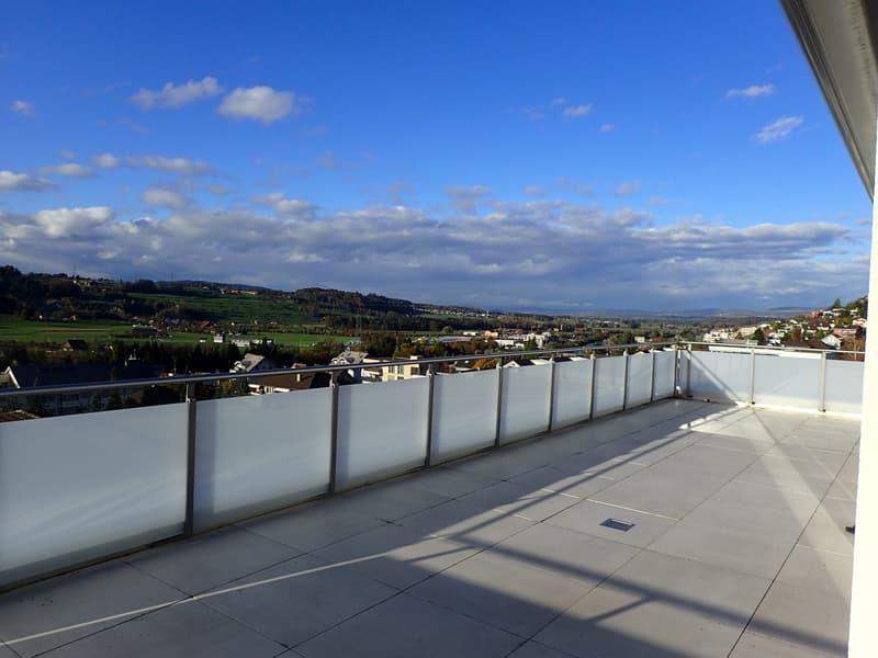Dachwohnung mit grosse Terrasse und tolle Aussicht