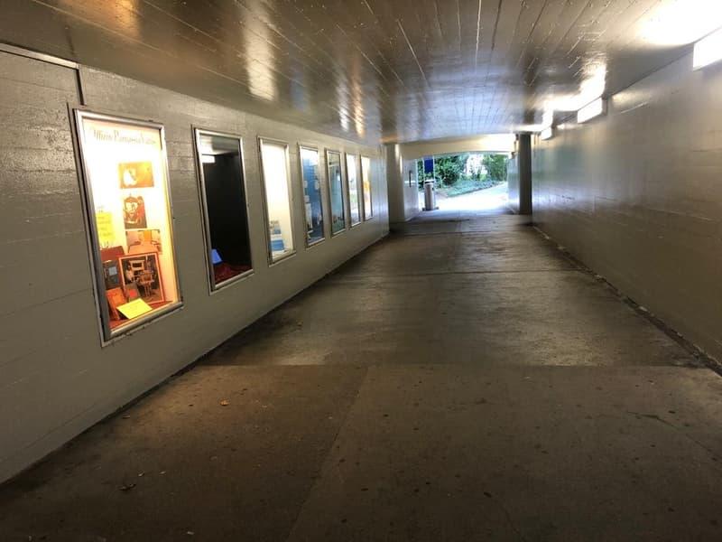 Schaufenster zu vermieten am Bahnhof Bad Ragaz