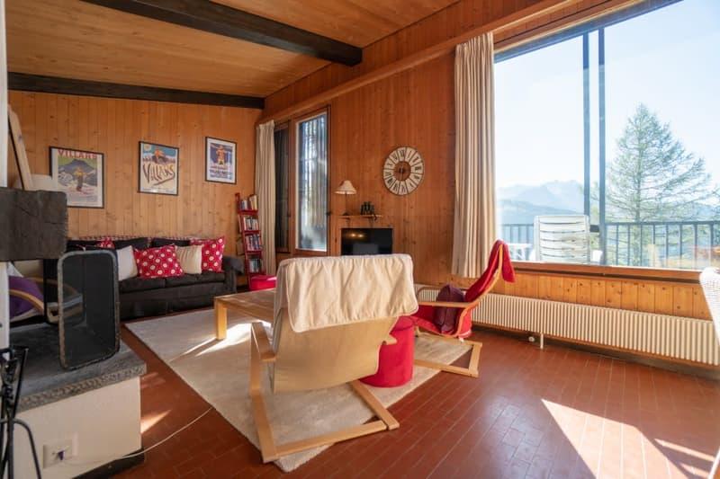 Home Story vous propose un joli chalet mitoyen de 4 pièces sur 2 niveaux avec petit jardin à 150m du téléski (2)