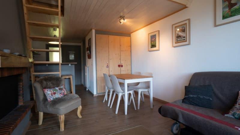 Home Story vous propose un magnifique 2 pièces en duplex à 150m de la liste de ski (2)