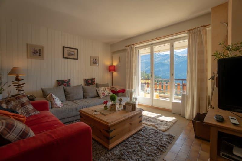 Gryon Immo vous propose un spacieux 4,5 pièces en duplex, proche de la nature, magnifique vue (2)