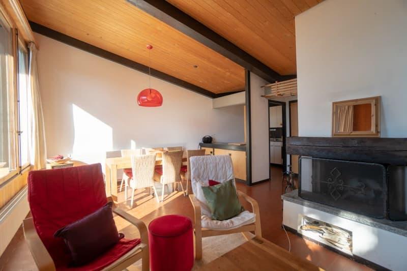 Home Story vous propose un joli chalet mitoyen de 4 pièces sur 2 niveaux avec petit jardin à 150m du téléski (4)