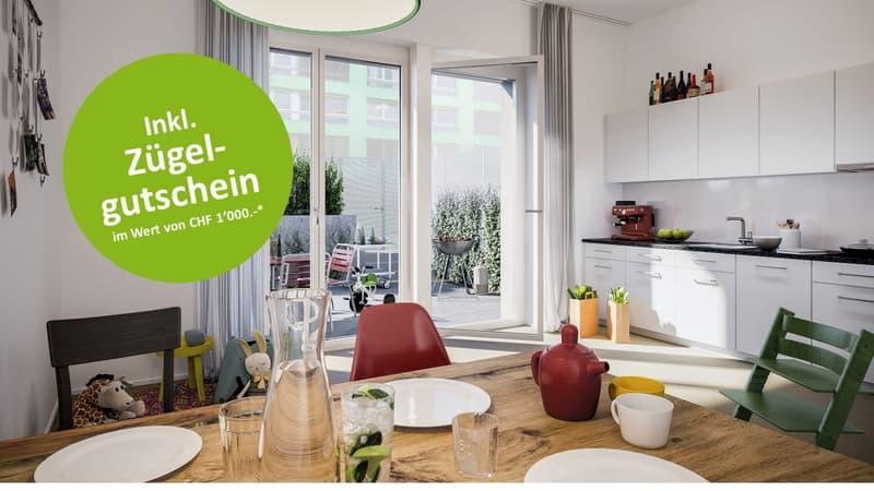 Visualisierung Visualisierung Wohnküche im Erdgeschoss