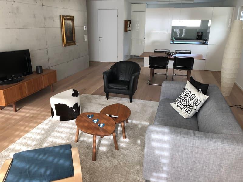 Möblierter Wohnraum einer 3.5-Zimmer-Wohnung