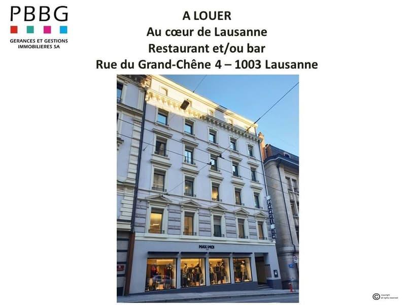 A louer restaurant en plein centre de Lausanne