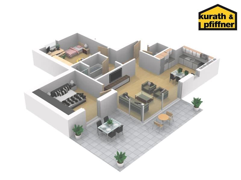 Letzte 3.5 Zimmerwohnung - MFH Bungert Haus B3