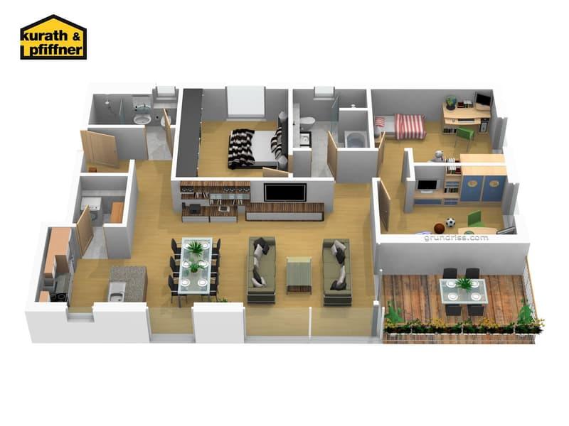 Neue, hochwertige Zentrumswohnungen - MFH Bungert Haus B3