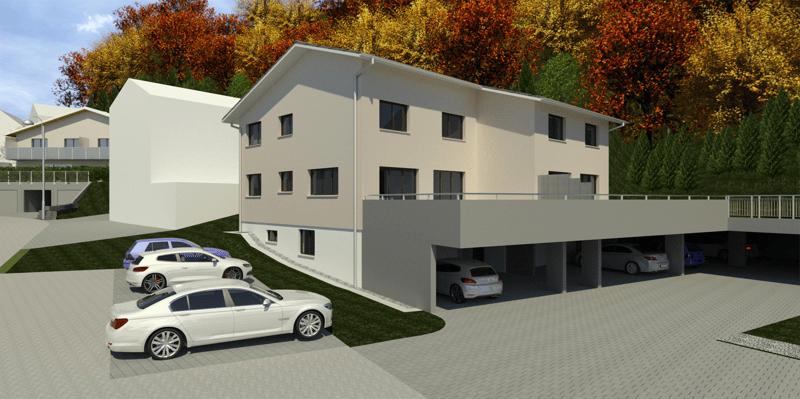 Überbauung Häusern, Doppeleinfamilienhaus 4b
