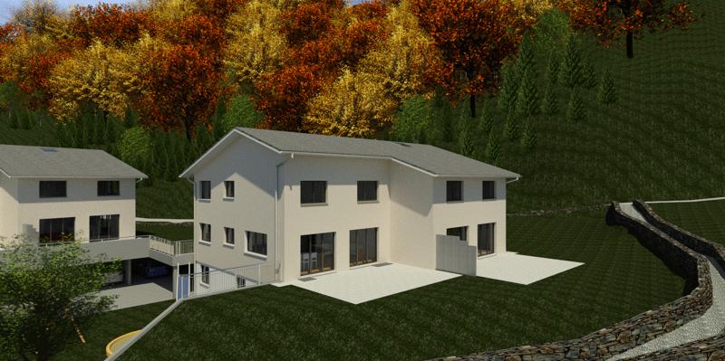 Überbauung Häusern, Doppeleinfamilienhaus 5b