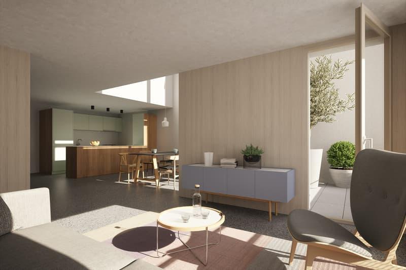Triplex-Wohnung, wohnen wie ihm Einfamilienhaus