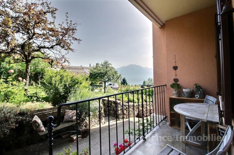 appartement de 4 pièces avec balcon à 5 min. de Montreux