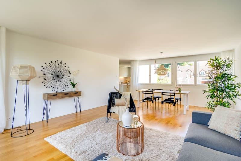Wohnung mit  Gartensitzplatz und 1 Gratis Mietzins