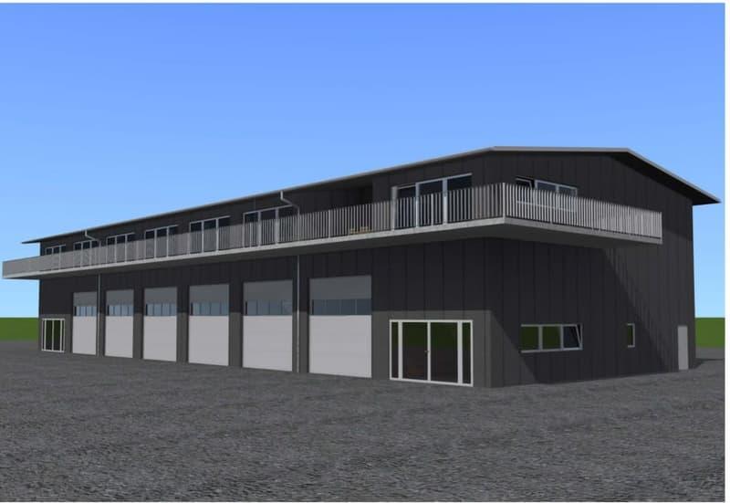 3 Halles industrielles sur 2 étages à construire sur un terrain d'env. 1000m2