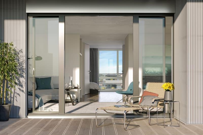 Moderne Wohnung mit sonnigem Balkon