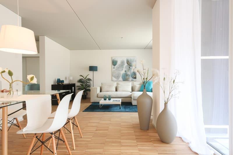 Wohn- und Essbereich Musterwohnung