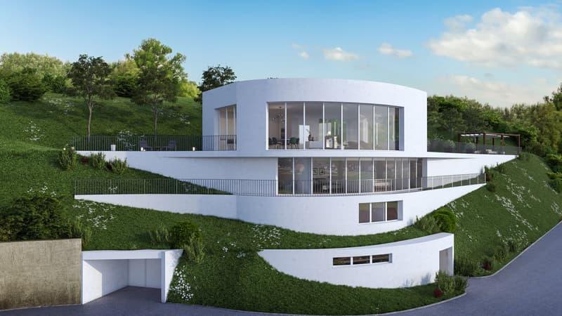 Villa mit Attikageschoss und fantastischer Weitsicht