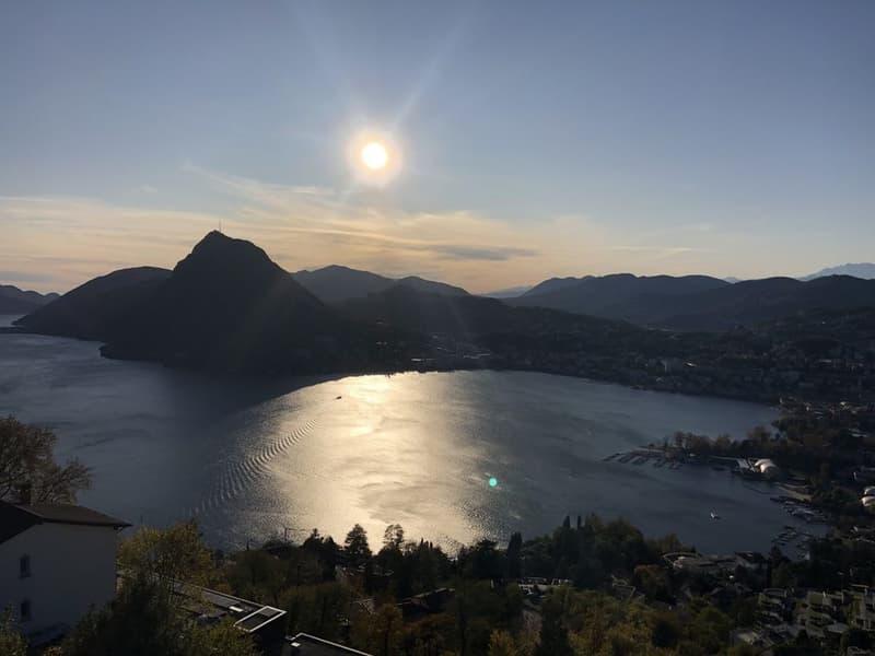 3,5 locali con magnifica vista lago e città, ammobiliato