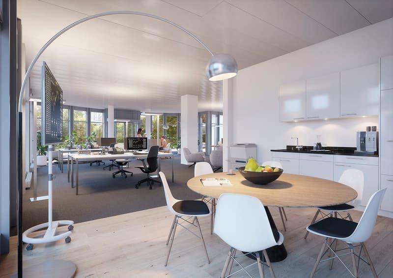 Hier entsteht Ihre ausgebaute Büro-/Gewerbefläche!