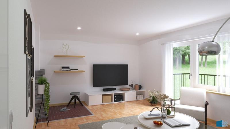 Ruhig gelegene Wohnung mit Cheminée und Balkon sucht einen neuen Bewohner