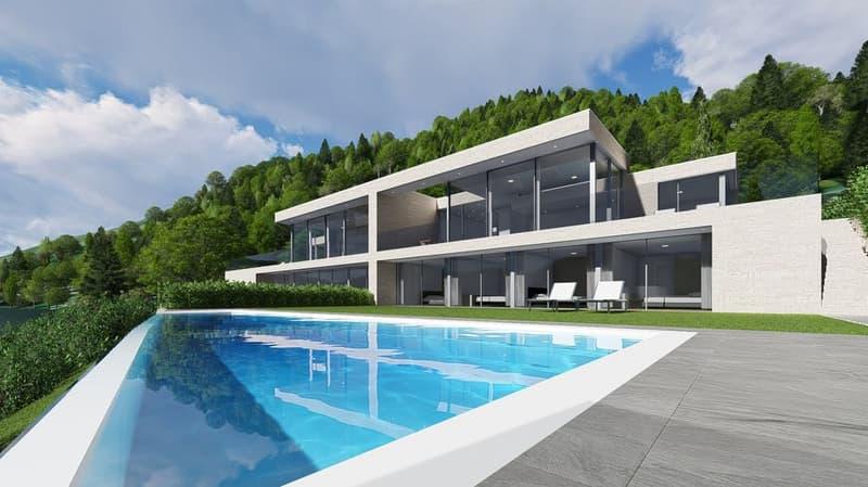 Nuova villa con piscina e bellissima vista lago