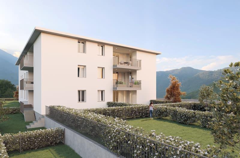 Nuovo e moderno appartamento con giardino