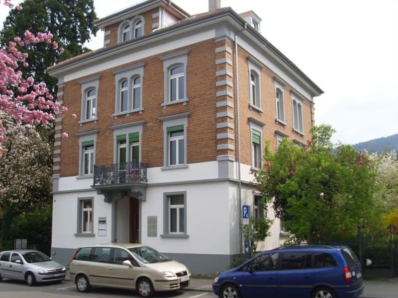 Ansicht der bereits restaurierten Gebäudehülle