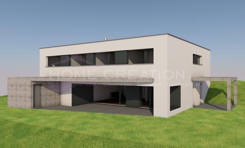 Projet sur plans villa individuelle